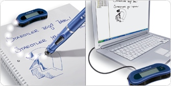 Staedtler pen can be used on the go - or connected to pc