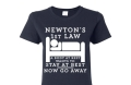 miniaturebillede af omslaget til T-shirt Newtons Law - Women S, Navy Blue
