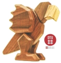 DTU Fablewood Mrs. Parrot (large) Magnetic Wooden Animals - Create. Display. Explore. Assemble. Play.