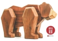 DTU Fablewood Old Mr. Bear (Large) Magnetic Wooden Animals - Create. Display. Explore. Assemble. Play.
