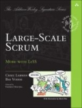 miniaturebillede af omslaget til Large-Scale Scrum - More with Less