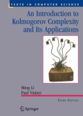 miniaturebillede af omslaget til An Introduction to Kolmogorov Complexity and Its Applications, 3. udgave