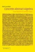miniaturebillede af omslaget til Concrete Abstract Algebra - From Numbers to Grobner Bases