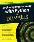 miniaturebillede af omslaget til Beginning Programming with Python for Dummies