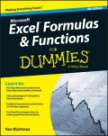 miniaturebillede af omslaget til Excel Formulas and Functions for Dummies, 4. udgave
