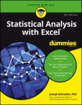 miniaturebillede af omslaget til Statistical Analysis with Excel for Dummies, 4. udgave