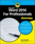 miniaturebillede af omslaget til Word 2016 for Professionals for Dummies