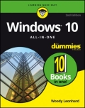 miniaturebillede af omslaget til Windows 10 All-in-One for Dummies, 2. udgave