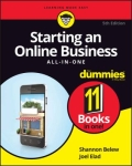 miniaturebillede af omslaget til Starting an Online Business All-in-One for Dummies, 5. udgave