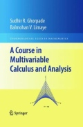 miniaturebillede af omslaget til A Course in Multivariable Calculus and Analysis, 1. udgave