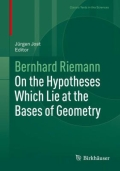 miniaturebillede af omslaget til On the Hypotheses Which Lie at the Bases of Geometry, 1. udgave