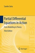 miniaturebillede af omslaget til Partial Differential Equations in Action - From Modelling to Theory, 3. udgave